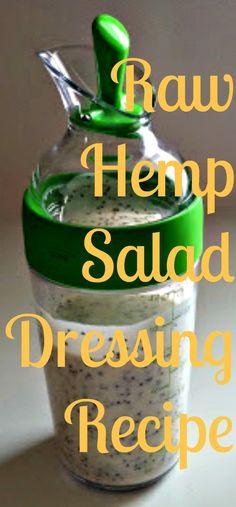 Easy Raw Vegan Hemp Salad Dressing Recipe ~ Easy Raw Vegan Recipe