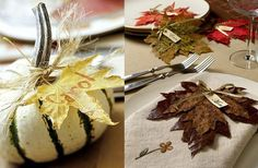 Fall Place Card Setting Ideas Fall Place Cards, Got Married, Getting Married, Dinner Parties, Entertainment, Autumn, Holidays, Bird, Table Decorations
