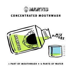 Marvis concentrated mouthwash #marvis #mouthwash #illustration