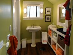 love the shelving. would be great for a kids or  guest bathroom.kids color