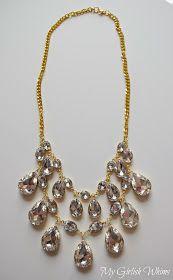 Beautiful DIY rhinestone necklace