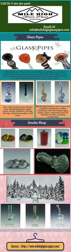 Quality glass pipes are those that are hand blown one at a time by highly trained skilled artisans and have been passed by quality control every single pipe that comes into our warehouse. Milehighglasspipes.com has had thousands of repeat buyers since beginning business in 2003. We hope you make Milehighglasspipes.com your preferred choice when stocking up on smoking accessories for your Medical Marijuana dispensary, smoke shop, Recreational Marijuana Store, or adult store.