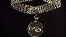 BDSM Jewelry Necklace Day Collar OWNED SUBMISSIVE by HallClosetNC