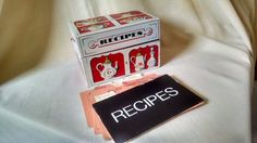 RECIPE CARD BOX MAYFAIR CO VINTAGE METAL INDEX BOX FILE DIVIDERS MCM DESIGN USA