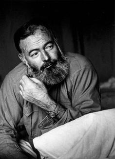 A classic portrait of Ernest Hemingway.