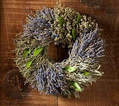 Live Provence Herb Wreath #potterybarn