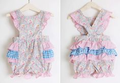 Romper Ruffles in Pretty Pastel Sunsuit Vintage Style. $39.00, via Etsy.