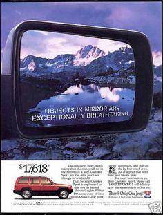 Jeep Cherokee ad.
