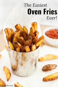 This homemade oven fries recipe is so easy and delicious they are