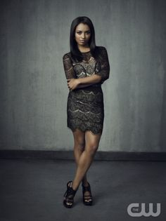 The Vampire Diaries -- Pictured: Kat Graham as Bonnie -- Image Number: VD4_Bonnie_Grey_2935r.jpg -- Photo: Justin Stephens/The CW -- © 2013 The CW Network, LLC. All rights reserved.