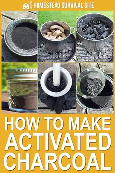 to Make Activated Charcoal (With Pictures) Yes, you can make activated charcoal at home, but it's a little more complicated than you might think.Yes, you can make activated charcoal at home, but it's a little more complicated than you might think. Homestead Survival, Survival Food, Wilderness Survival, Outdoor Survival, Survival Prepping, Emergency Preparedness, Survival Skills, Survival Hacks, Survival Items