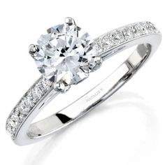 14k White Gold Pave Bezel Diamond Engagement Semi Mount Ring NK12065ENG-W @ Jewelry By Morgan in Kansas City, Missouri!