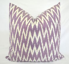 CHEVRON IKAT PILLOW cover. 20 x 20 by SilkWay on Etsy, $24.69