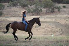Ride a horse, and ride a horse bareback.