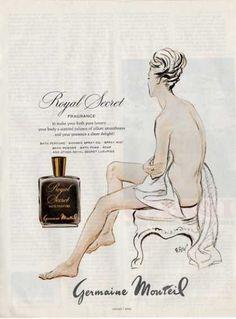 Publicité Vintage -  Parfum Germaine Monteil - Années 1960