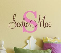 Children Wall Decal Personalized Decor    Childrens by LucyLews, $18.00