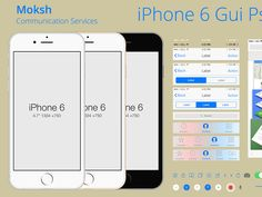 Hey  Guys  Here i again Uploaded iPhone 6 GUI Psd as of-course it's free. I am really happy here shared with you my work.  I got the free time and i did create few important part of apps design for...