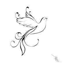 Holy Spirit Dove Drawing holy spirit tattoo on pinterest loving memory tattoos (Believe Faith Peace)