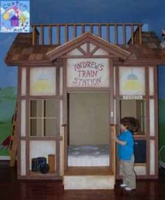 Train Station Theme Bed