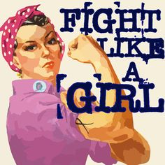 When someone says you fight like a girl, say thank you! #fightlikeagirl #breastcancerawareness