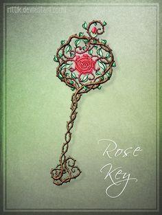 Commission - Rose Key by Rittik.deviantart.com on @deviantART