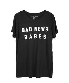 BAD NEWS BABES BLACK TEE | #bad #news #babe #black #tee #tshirt #top #women #fashion #style
