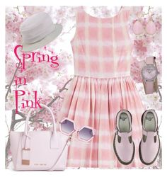 """""""Spring in pink"""" by catalina86 ❤ liked on Polyvore featuring Marc by Marc Jacobs, Dr. Martens, Ted Baker, Ice, Stührling and malo"""