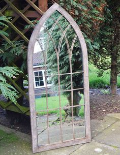 This Rustic Outdoor Garden Wall Mirror Would Make The Perfect Addition To  Any Outdoor Area.