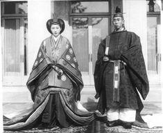 Prince Takahiko Asaka and Chikako Todo on their wedding day, 1939.