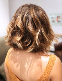 Anabelle's Hair Transformation, wavy bob with pretty highlights