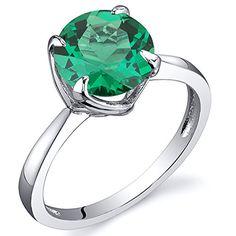 925 Sterling Argent Naturel vert émeraude Bague Fleur Gemme