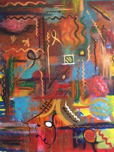 Beating heart, 80x100 cm acrylic on canvas, June 2015