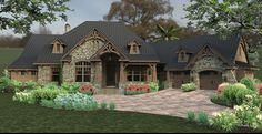 Craftsman+House+Plan+with+2466+Square+Feet+and+3+Bedrooms+from+Dream+Home+Source+|+House+Plan+Code+DHSW076582