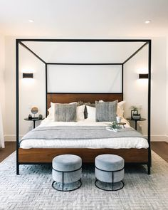 Haus Dream Home Lottery - A Designer's Dream! — 204 PARK Parenting---Roots And Wings I'm sure many o Modern Canopy Bed, Canopy Bedroom, Room Ideas Bedroom, Bedroom Inspo, Dream Bedroom, Home Decor Bedroom, Modern Bedroom, Bedroom Furniture, Bed With Canopy