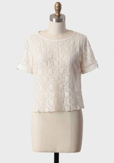 Sheer Simplicity Lace Blouse
