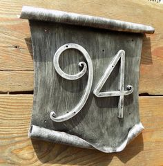 Designer House Number / Metal scroll / House Number / Address numbers / Metal House Numbers / house address / home address / rustic number Large House Numbers, Metal House Numbers, House Number Plaque, Old Water Pumps, What House, Pump House, House Address, Artificial Stone, Address Numbers