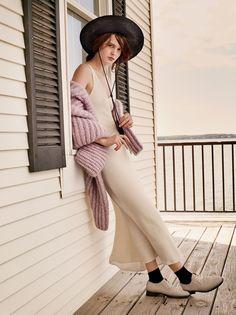 Cream slip dress