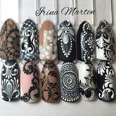 Intricate dotted nailart that so beautifully detailed... L♡VE!!♡
