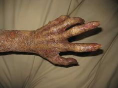 Plastic wrap zombie arm horror makeup