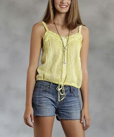 Another great find on #zulily! Roper Yellow Pin Tuck Camisole - Women by Roper #zulilyfinds