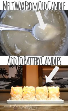 Do you love the safety of battery candles but not the look? Here's a simple idea to add wax from old candles to the sides of battery candles. Great HACK of expensive flameless candles! Battery Candles, Old Candles, Flameless Candles, Tea Light Candles, Candle Lighting, Unique Candles, Primitive Christmas, Primitive Decor, Primitive Snowmen