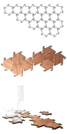 Zesch Interlocking Coasters - Michiel Cornellissen.