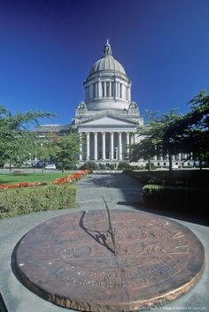 State Capitol of Washington, Olympia. Lived down there. Wa State, Capitol Building, Sundial, Classical Architecture, Washington State, Olympia, Seattle, Arizona, Buildings