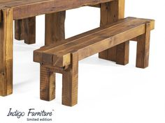 reclaimed beam bench | limited edition