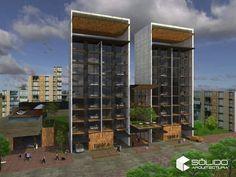Departamentos y usos mixtos House Design, Buildings, Interiors, Houses, Architecture Design, House Plans, Home Design, Design Homes