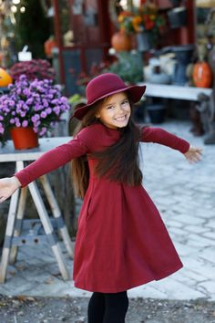 Pearls and Piggytails - Anna Dress - Wine #kids #baby #dress #children #fashion #style #love #happiness