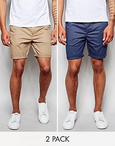 DESIGN 2 pack slim chino shorts In stone & navy save is part of Short men fashion - Browse online for the newest ASOS DESIGN 2 pack slim chino shorts In stone & navy save styles Shop easier with ASOS' multiple payments and return options (Ts&Cs apply) Best Shorts For Men, Mens Summer Shorts, Only Shorts, Men's Shorts, Mens Chino Shorts, Navy Shorts Outfit, Short Shorts, Blue Shorts, Smart Casual Men