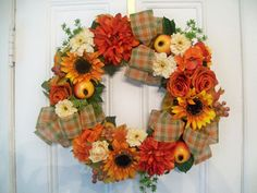 Best Selling  Harvest Wreath by SilkPetalsAmityville on Etsy