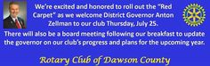 Honored to have #rotaryclub district governor Anton Zellman visit #rotaryclubofdawsoncounty