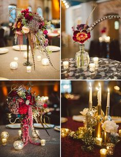 Modern vintage : How to create the perfect Art Deco wedding with a modern twist - Fabulous feathers | CHWV